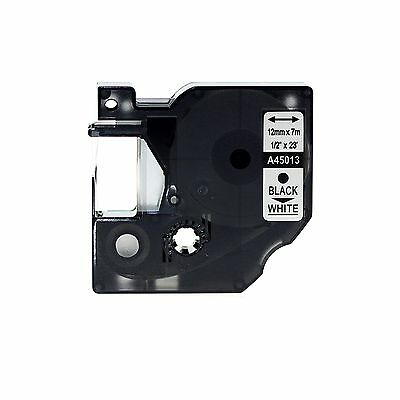 Black on White Compatible with DYMO D1 A45013 LabelManager 100/120P/160/210D AU