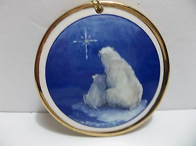 Vintage C Alan Johnson POLAR BEAR Christmas Tree Ornament ALASKA CLASSICS
