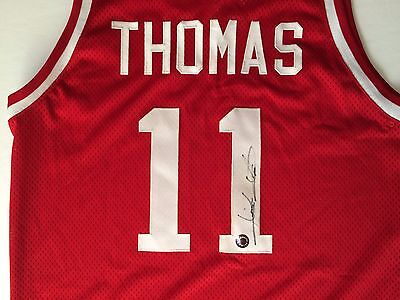 Isiah Thomas Signed Indian Hoosiers Basketball Jersey Schwartz Sports Hologram