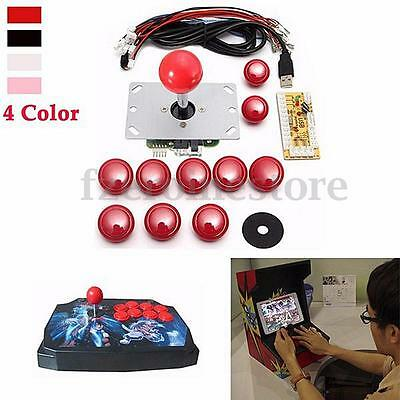 Zero Delay DIY Arcade USB Encoder kit part+ gaming Joystick + 20 Button to PC