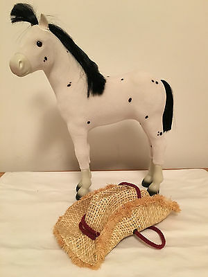 """AMERICAN GIRL Doll 14""""HORSE Sparks Flying Kaya's Spotted Pony Foal White Dappled"""