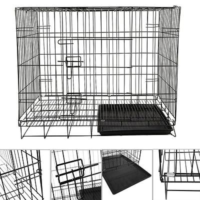 "24""30""36""42""Folding Dog Cage Pet Puppy Crate Travel Carrier Training & Sleeping"