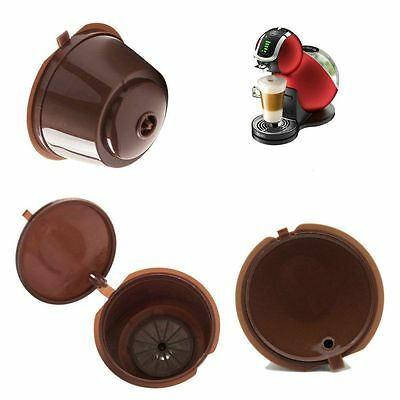 Reusable Kitchen Refillable Refill Filter Coffee Capsules Cup for Dolce Gusto