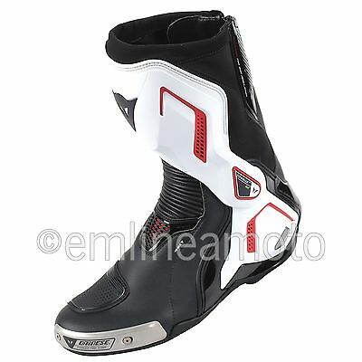 Leather Boots Racing Torque D1 Out Air  Dainese Black/White/Lava-Red