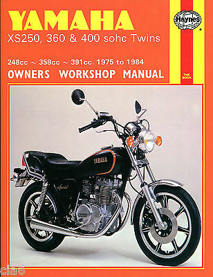 Yamaha XS250 XS360 XS400 sohc Twin Owners Workshop Manual 1975-84 UK and US NEW