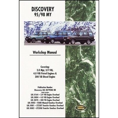 Land Rover Discovery Workshop Manual 1995-1998 MY book paper