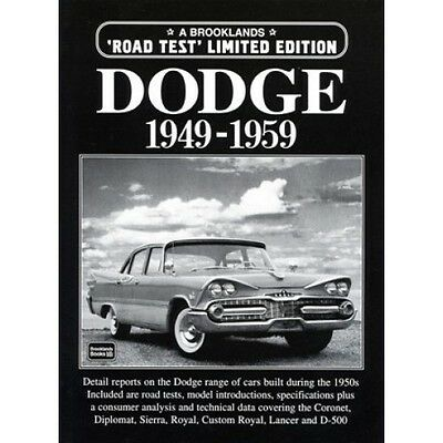 Dodge Limited Edition 1949-1959 book paper
