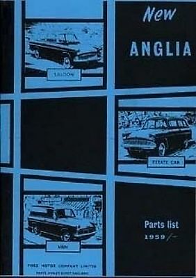 FORD Anglia 1959 - 1968 Parts Manual Book Catalogue Paper