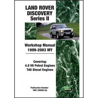 Land Rover Discovery Series II Workshop Manual 1999-2003 MY book paper