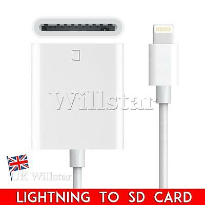 Lightning to SD Card Camera Reader Photo 8 Pin Adapter for iPad Mini Air iPhone