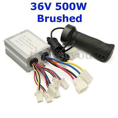 36V 500W Universal Motor Brush Speed Controller & Electric-Bike Scooter Grip