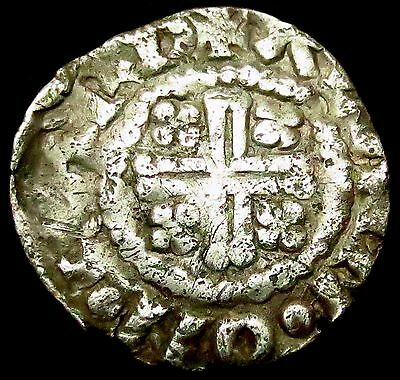 S412: Henry II Hammered Silver Short Cross class 1c Penny : Alain of CARLISLE