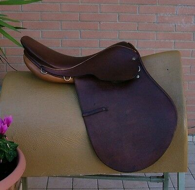 Sella Inglese Saddle Derby Courbette 17,5""