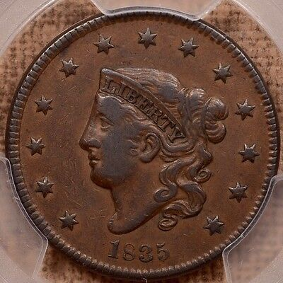 1835 N.6 Head of 34 Large cent, PCGS VF30, brown and smooth   DavidKahnRareCoins
