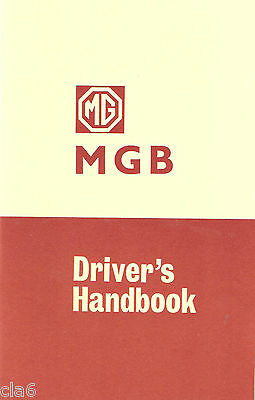 MG MGB Tourer and GT Drivers Handbook published 1969 part number AKD3900 *NEW