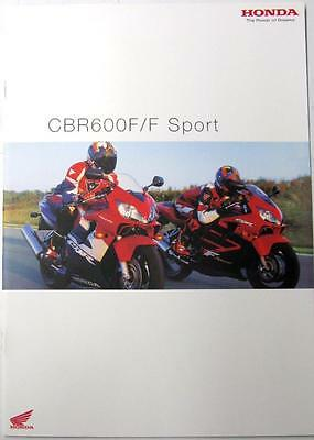 HONDA CBR600F/F Sport Motorcycle Sales Brochure Apr 2001 #MC-A 00 09