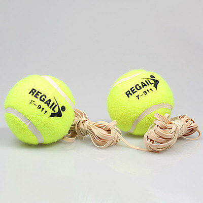 Tennis Ball With Elastic Rubber Rope Beginners Trainer Single Train Tool