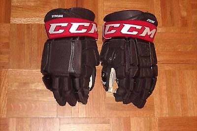 ARIZONA COYOTES Dylan Strome game-worn CCM Pro gloves name on cuffs (2016-2017)