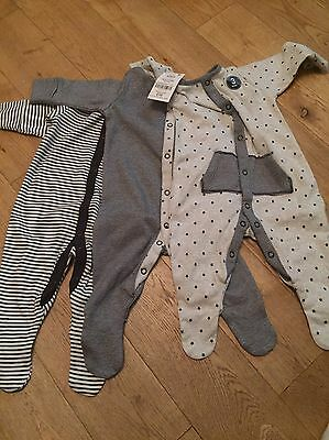 Next Sleepsuits 0-3 Months Brand New