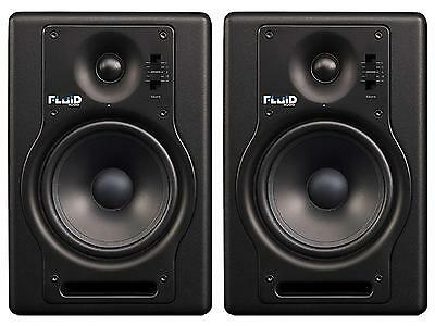 "FLUID AUDIO F5 (coppia) Coppia studio monitor biamplificati 5""/1"" 140w neri"