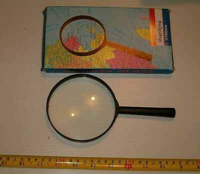 """Brand New Large 4"""" Diameter Magnifying Glass , Loupe , Real Glass Lens"""