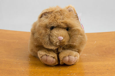 """Puffkins By Swibco Stuffed Plush Animal """"Cinnamon"""" Cat New With Tags"""