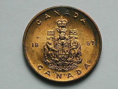 Canada Coat-of-Arms 1867 Medal Token Canadian National Symbol Maple Leaf