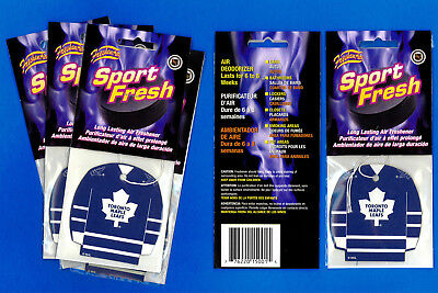 Toronto Maple Leafs NHL Car Air Freshener Jersey Pack of 3