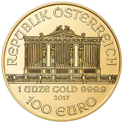2017 100 Euro Austrian Gold Philharmonic .9999 1 oz Brilliant Uncirculated