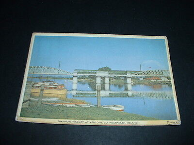 IRISH. POSTCARD  SHANNON VIADUCT AT ATHLONE Co WESTMEATH IRELAND