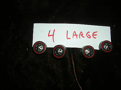4 large HOTWHEELS RED LINE PARTS SET OF 4 RED LINE REPO WHEELS SET OF 4 TOTAL