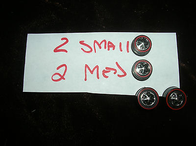 2 sm 2 med HOTWHEELS RED LINE PARTS SET OF 4 RED LINE REPO WHEELS SET OF 4 TOTAL