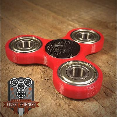 EDC Spinner Tri Bar Fidget Toy with Caps **ships out within 24 hours of order be