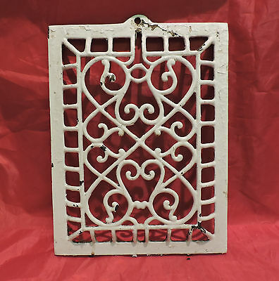 Antique Cast Iron Heating Grate Cover Unique Ornate Victorian Design 12.5 X 9.5
