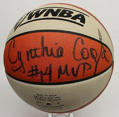 Cynthia Cooper Signed Official WNBA Basketball Autographed Comets JSA Q95267