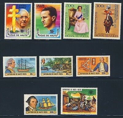Burkina Faso 9 Different Mh Stamps #434//494 Cv$17.75  Cc50