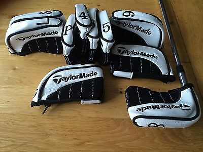 10 new taylormade black pu leather golf club iron head covers headcovers