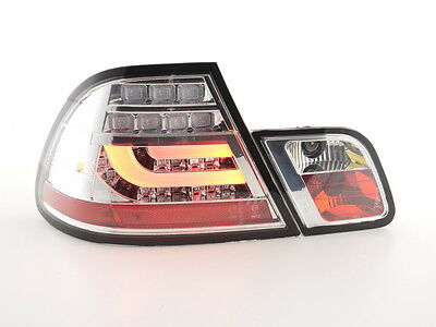 FK-Automotive LED Rückleuchten Set BMW 3er E46 Coupe Bj. 99-03 chrom NEU & OVP