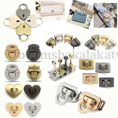 Metal Round Rectangle Clasp Turn Twist Lock for DIY Handbag Bag Purse Hardware