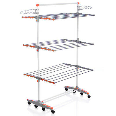 Indoor Outdoor Clothes Line Drying Rack Laundry Hanger Organizer Hanging Folding
