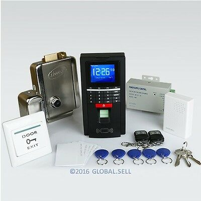 Fingerprint And RFID Card Access Control System+ Electric Lock+ 2Remote Controls