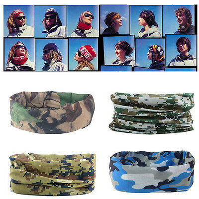 Multi-Function Camo Tube Scarf Headband Face Mask Winter Bandana Headwear 2017