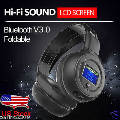 3.0 Stereo Bluetooth Wireless Headset/Headphones With Call Mic/Microphone US