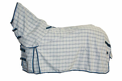 Axiom Polycotton Blue Check Ripstop Unlined Horse Combo Rug 5'9