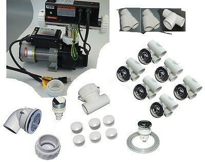 """bathtub all parts kit collection with contol pack 3/4"""" jet punp 110V  WHIRLPOOL"""