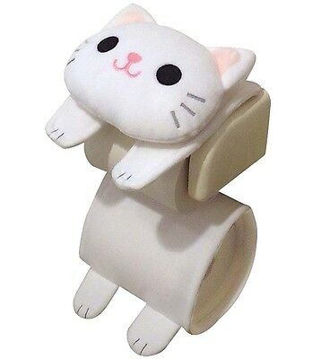 Cat Toilet Paper Holder White Roll Storage Cover