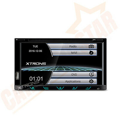 Double 2 DIN Car Stereo GPS Sat Nav DVD Player Radio Bluetooth Screen Mirroring