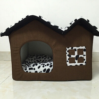 Pet Soft Warm Kennel Beds Portable Dog Cat Bed Puppy Cushion House