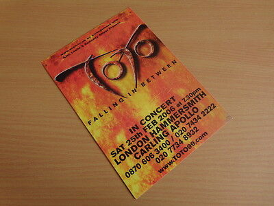 Toto Falling In Between Tour 2006 London Hammersmith Apollo A5 Flyer (Mint!)