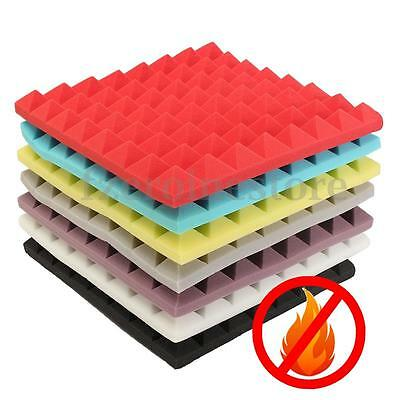 Acoustic Studio Music Foam Fire Proof Soundproofing Absorption Treatment 50*50cm